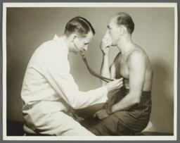 Health Examination-Men Album -- Doctor Listening to Man's Lungs