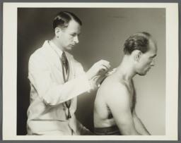 Health Examination-Men Album -- Doctor Checking Man's Lungs
