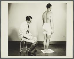 Health Examination-Men Album -- Doctor Checking Man's Posture