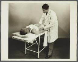 Health Examination-Men Album -- Doctor Examining Man's Abdomen