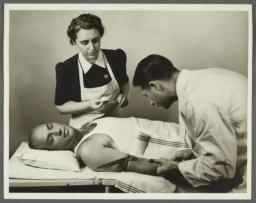 Health Examination-Men Album -- Doctor with Nurse Testing Man for Syphilis
