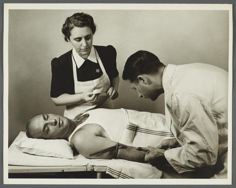 Health Examination-Men Album -- Doctor with Nurse Testing Man for Syphilis
