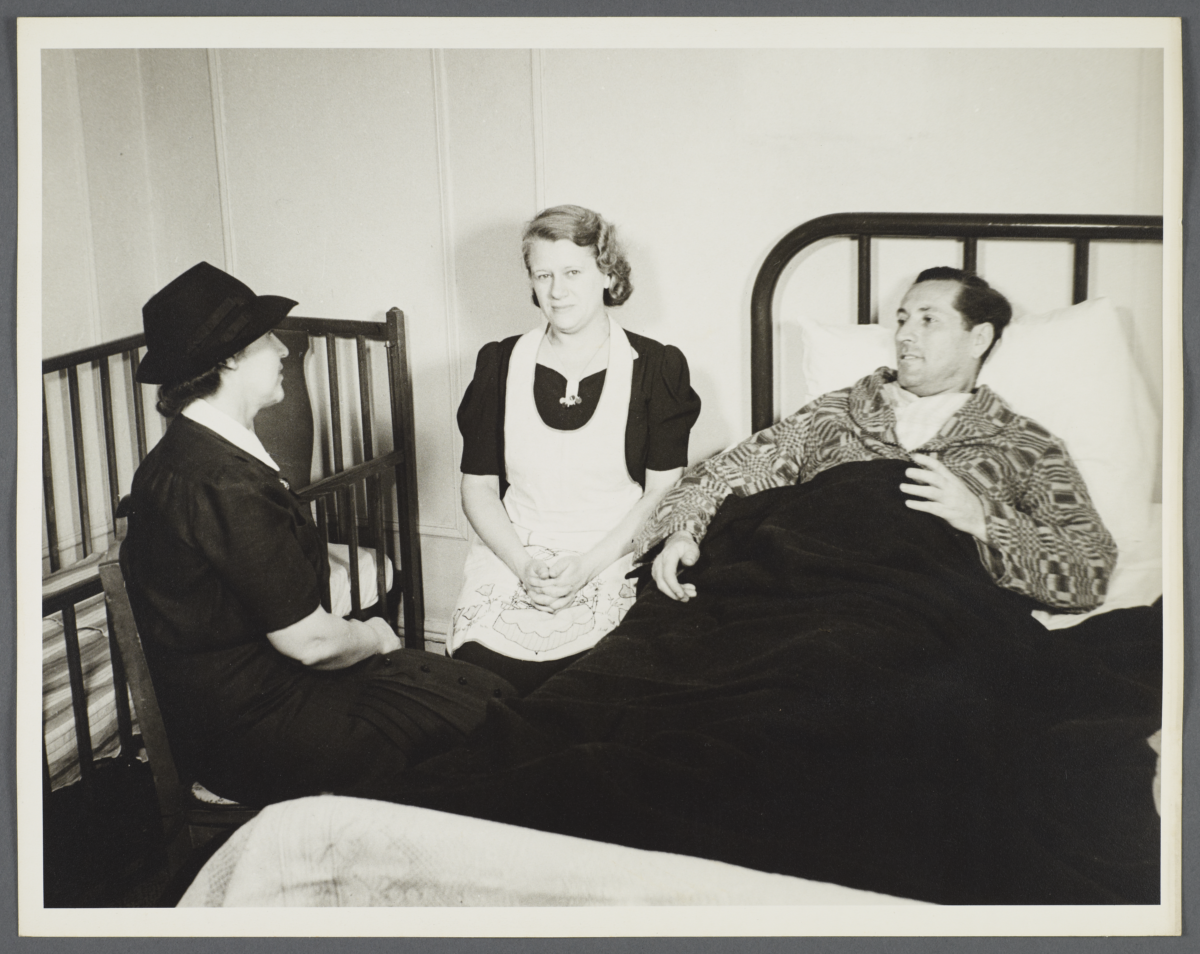 Nurses' Family Health Series: Tuberculosis Album -- Nurse Goes to Balton Home