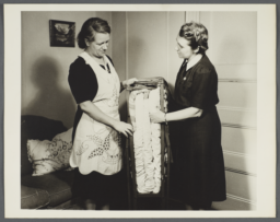 Nurses' Family Health Series: Tuberculosis Album -- Folding Bed for Mrs. Balton