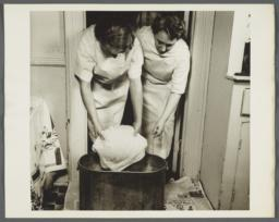 Nurses' Family Health Series: Tuberculosis Album -- Disinfection of Soiled Linen