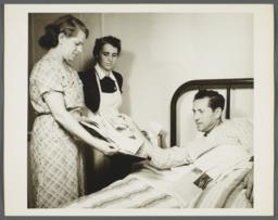 Nurses' Family Health Series: Tuberculosis Album -- Patient Learns How to Cover Nose and Mouth