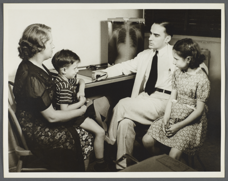 Nurses' Family Health Series: Tuberculosis Album -- Doctor Explains X-Rays