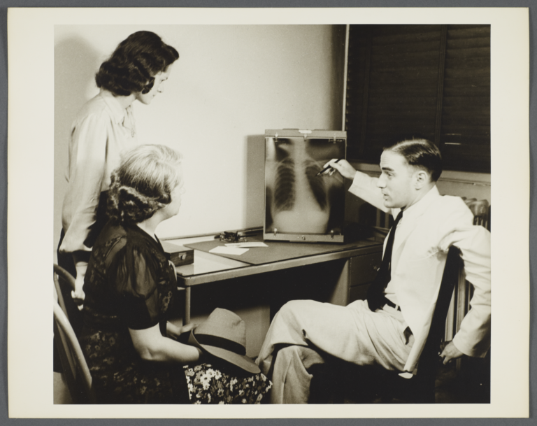 Nurses' Family Health Series: Tuberculosis Album -- Doctor Talks to Marion and Mother