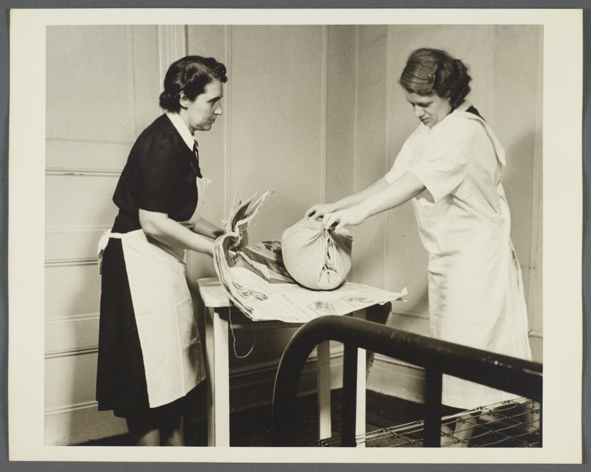 Nurses' Family Health Series: Tuberculosis Album -- Cleaning of Room
