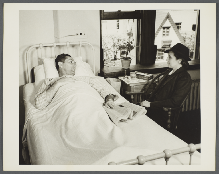 Nurses' Family Health Series: Tuberculosis Album -- Nurse Visits Mr. Balton at Sanatorium