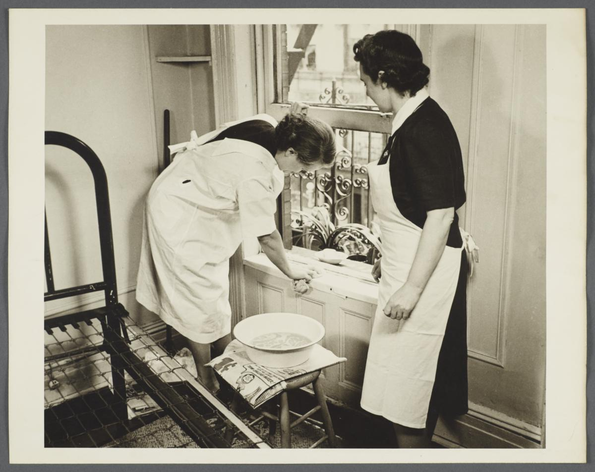 Nurses' Family Health Series: Tuberculosis Album -- Cleaning and Airing Room