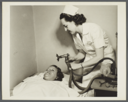 Nurses' Family Health Series: Tuberculosis Album -- Under Medical Supervision for Enlarged Thyroid