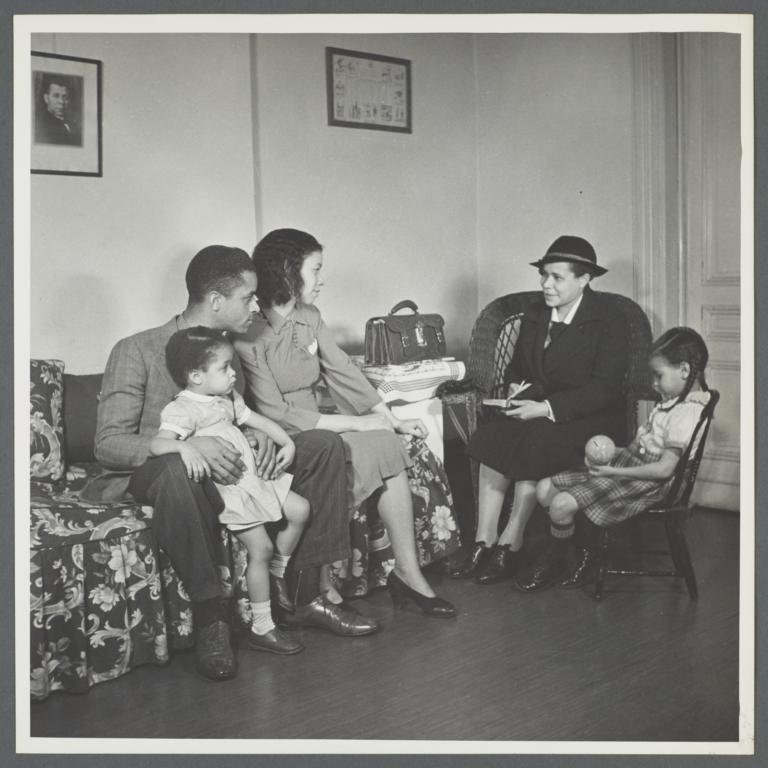 Moton Health Center Album -- Nurse's First Visit Into Home