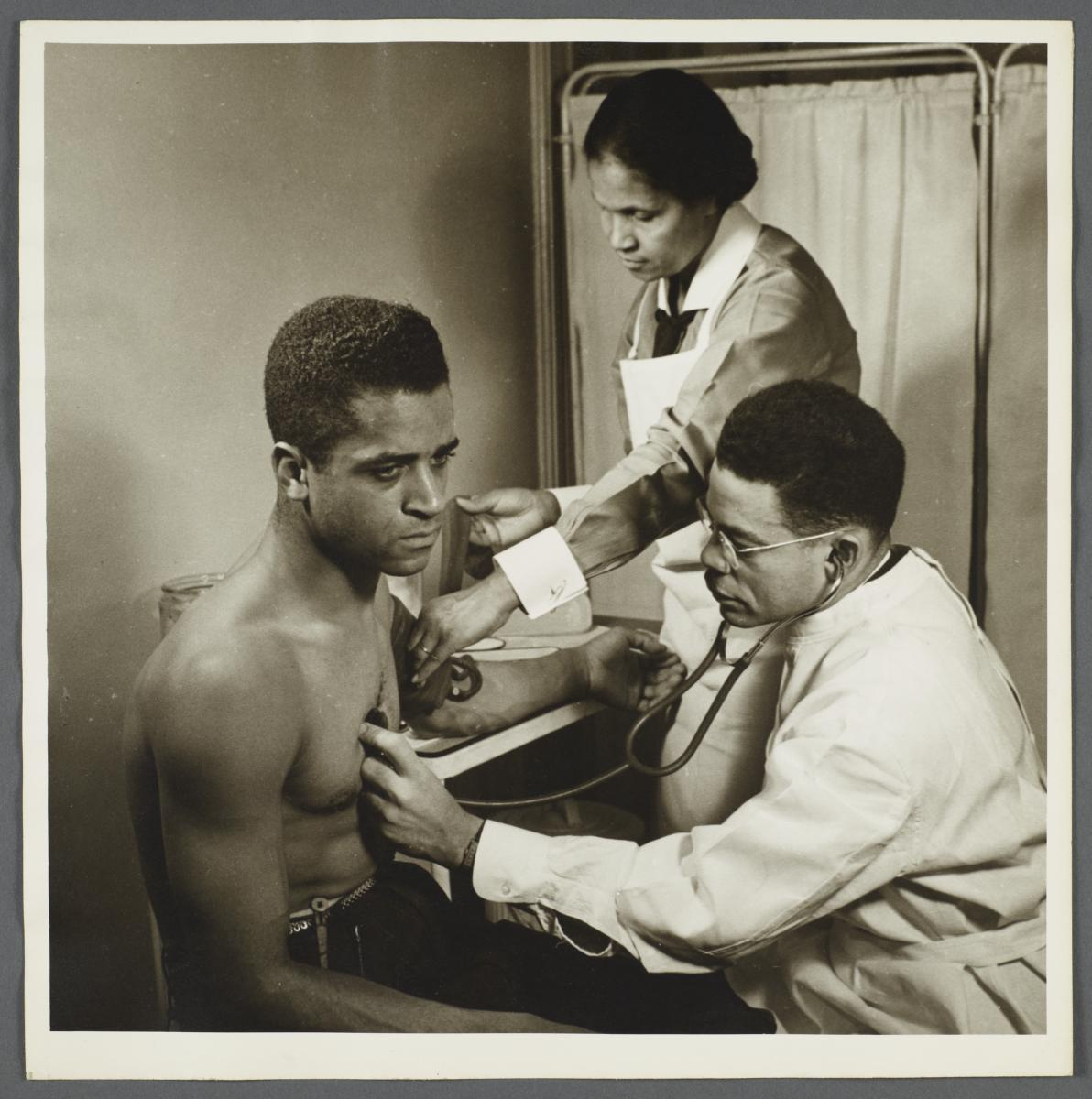 Moton Health Center Album -- Health Examination of Father