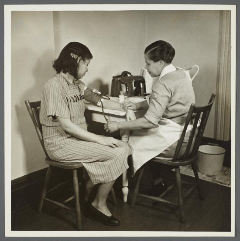 Moton Health Center Album -- Nursing Visit as Supplement fo Medical Supervision
