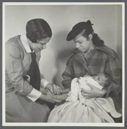 Moton Health Center Album -- Health Inspection of Baby
