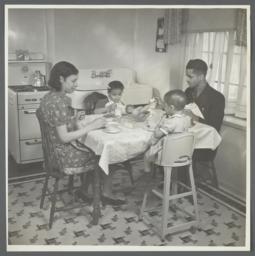 Moton Health Center Album -- Breakfast in New Home