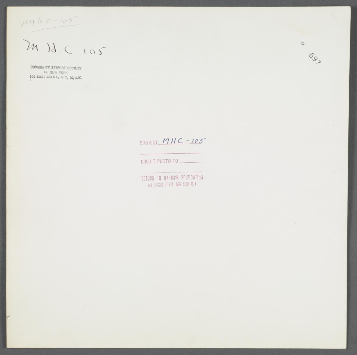 Moton Health Center Album -- Convalescent Care
