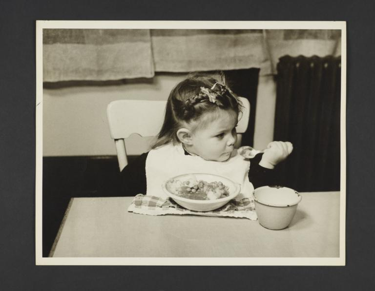 Picturing Some of the Principles of Child Care Album -- Child Eating