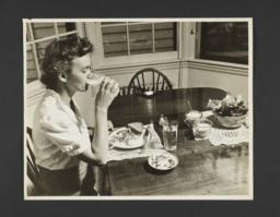 Picturing Some of the Principles of Child Care Album -- Mother Drinking Milk