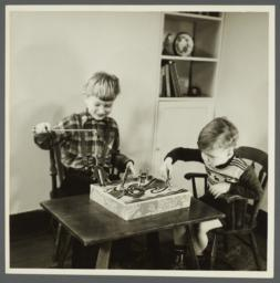 Lenox Hill, 1948-1949 Album -- Two Boys Playing