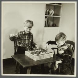Lenox Hill, 1948-1949 Album -- Two Boys Playing
