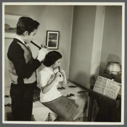 Lenox Hill, 1948-1949 Album -- Playing Flutes