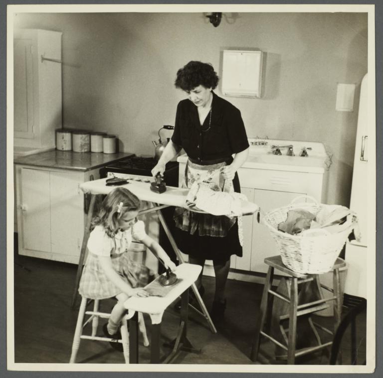 Lenox Hill, 1948-1949 Album -- Ironing
