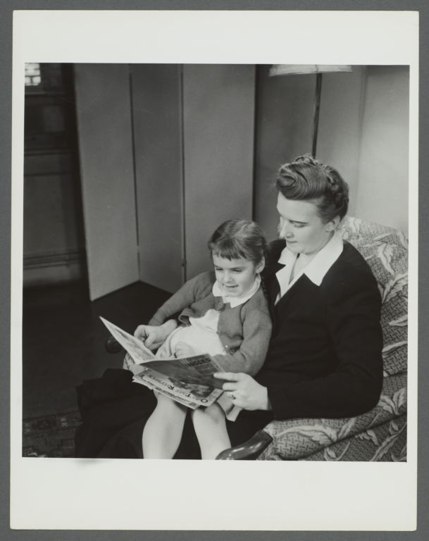 Lenox Hill, 1948-1949 Album -- Reading in Chair
