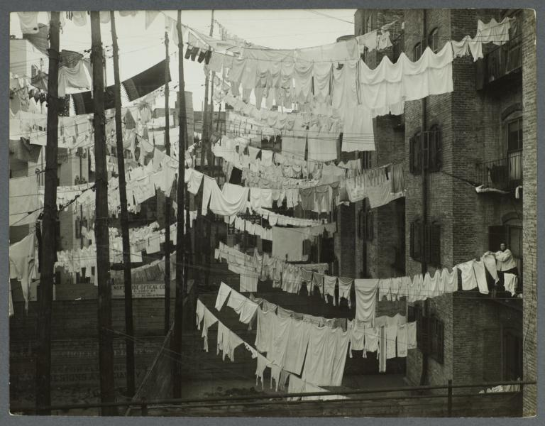 Clothes Drying in Tenement District