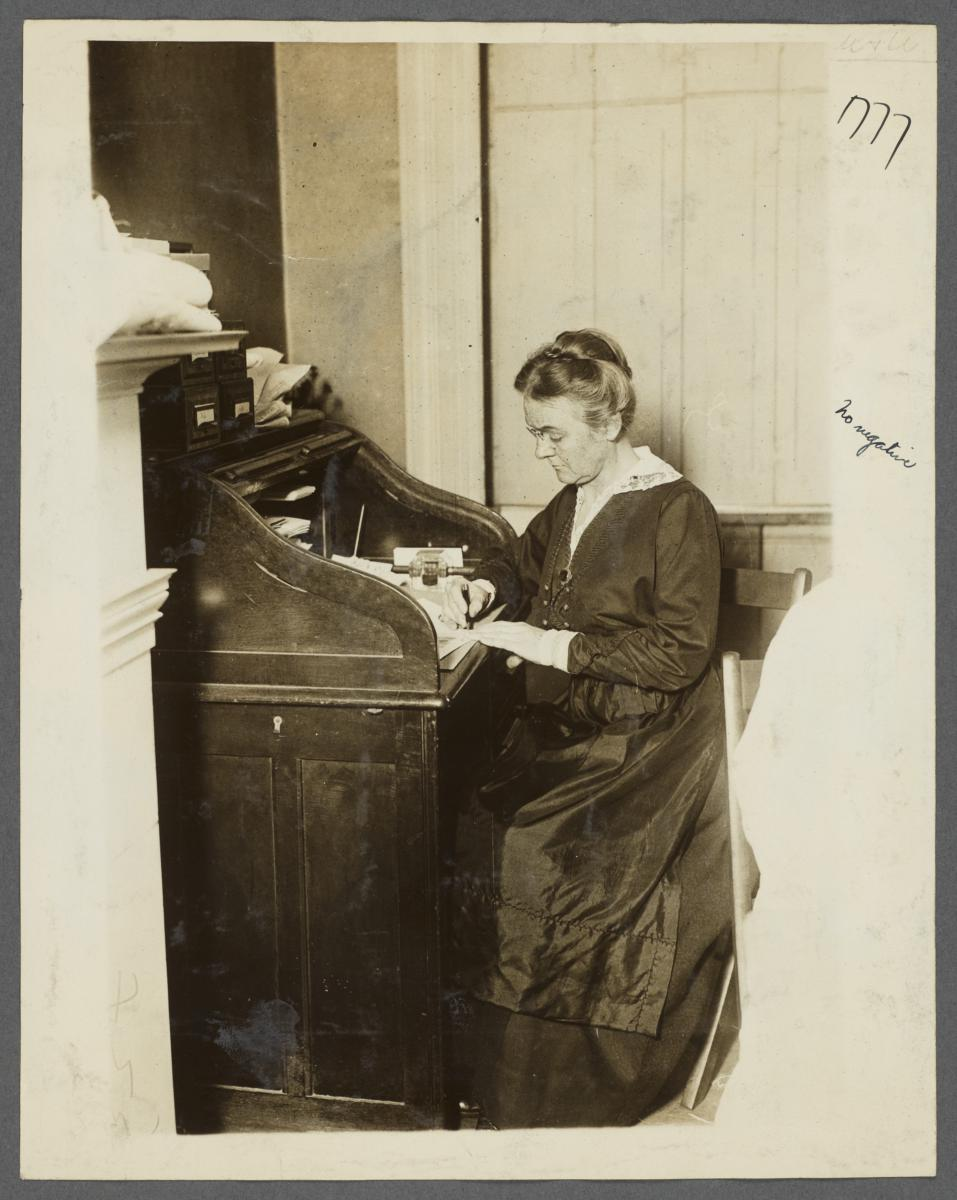 Women's Work Rooms Album -- Woman at Desk