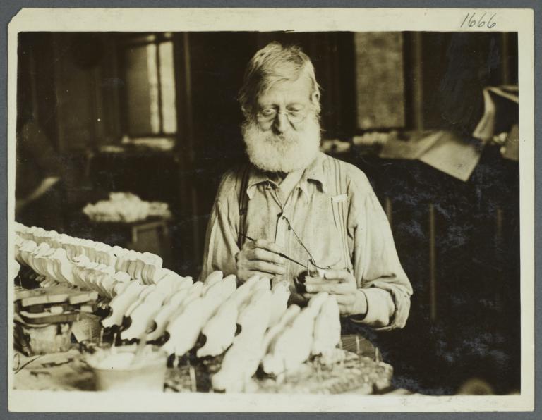 Old Men's Toy Shop Album -- Man Painting Toy