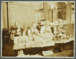 Old Men's Toy Shop Album -- Men Painting Wooden Toys