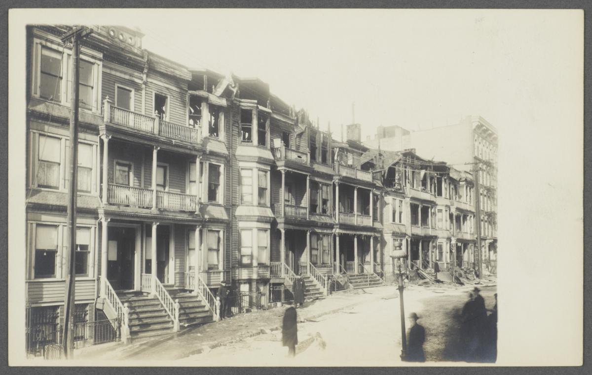 Burned Buildings on Eagle Avenue