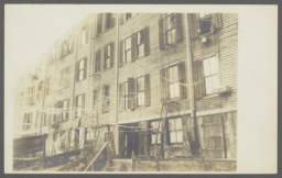 Rear View of Burned Buildings