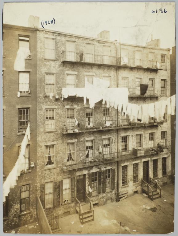 Rear View of Tenement Houses