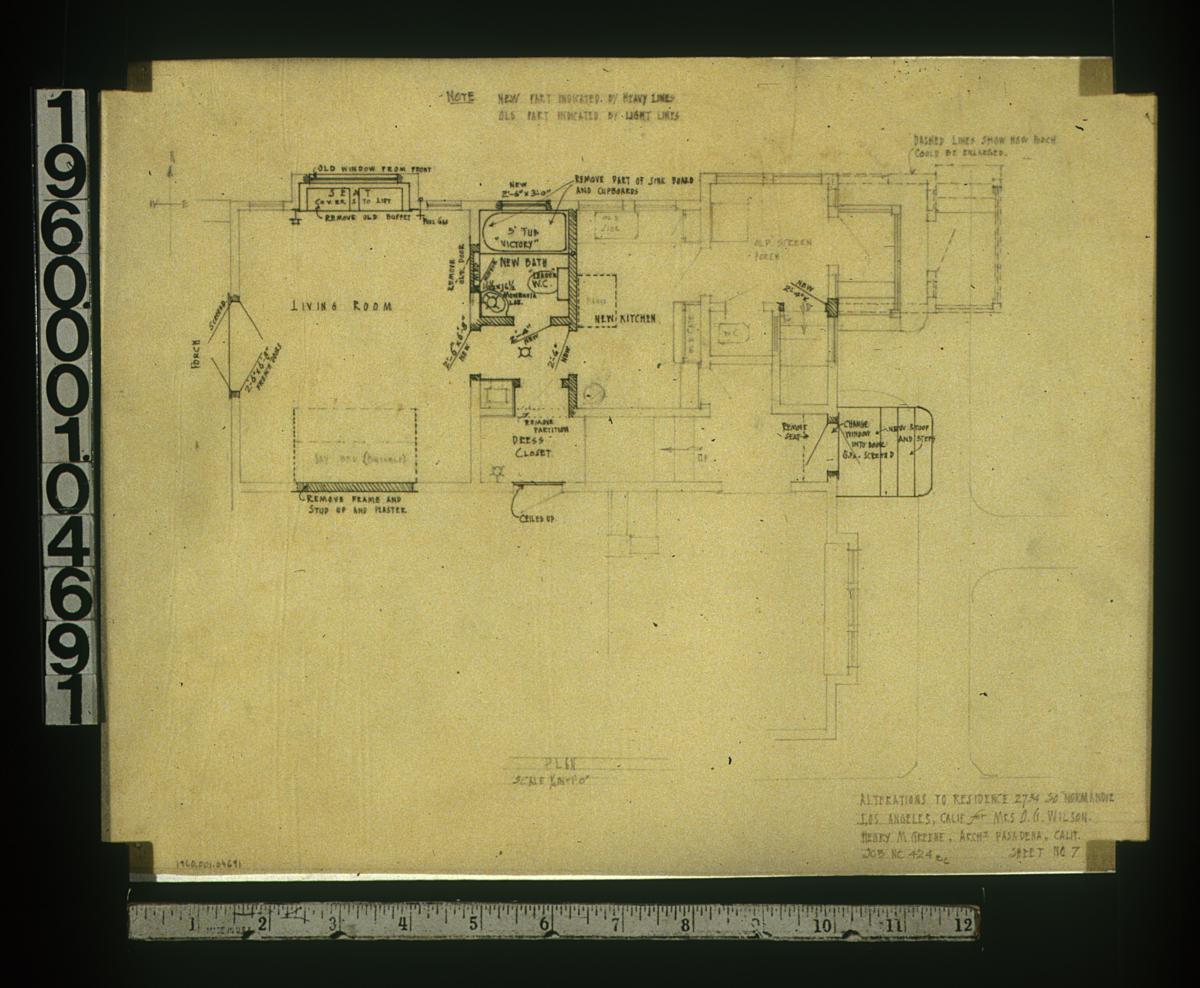 Greene greene collection o g wilson house los angeles for Columbia flooring jobs