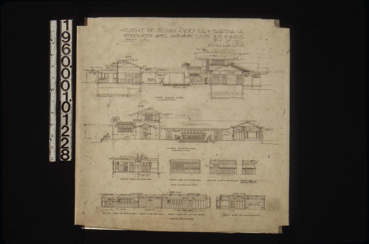 Greene Collection Freeman A Ford House Pasadena Calif 428 Engine Diagram Jpeg Zoom